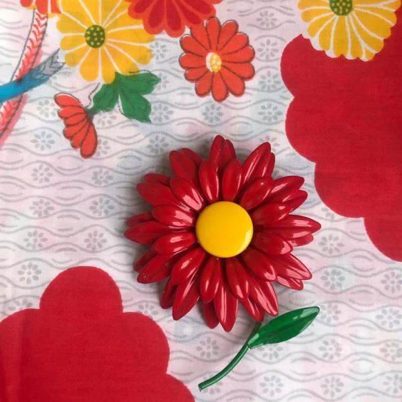 efa74dc55 Vintage Jewelry | 1960s Red Flower Brooch 4 Vtg Retro 60s | Poshmark